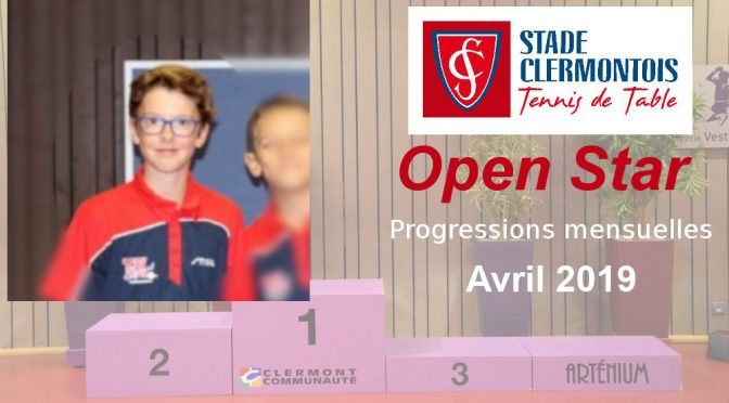 L'Open Star mensuel d'avril 2019